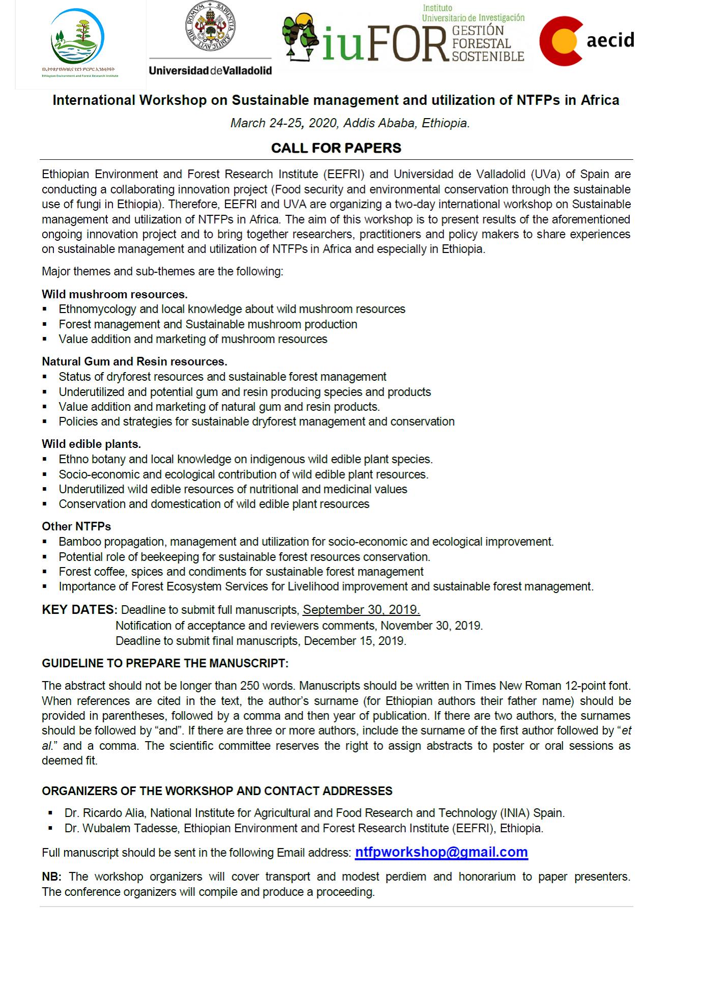 International Workshop on Sustainable Management and